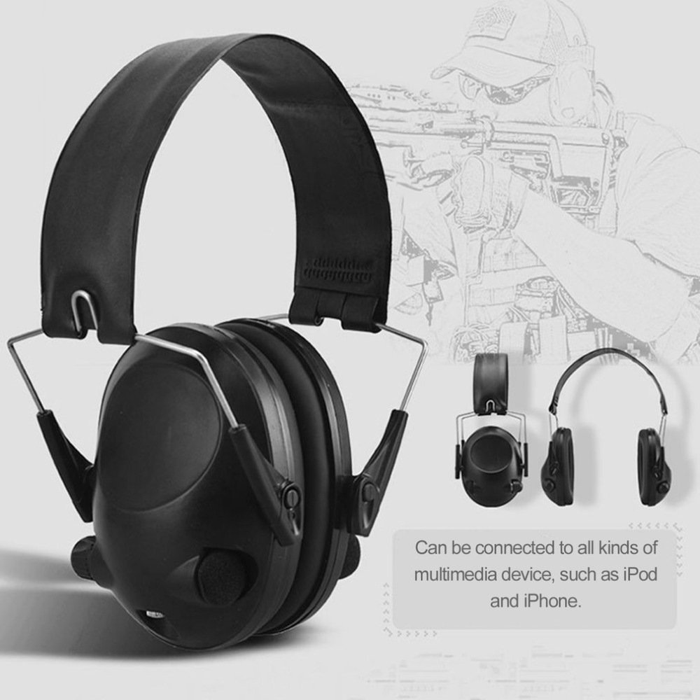 TAC 6s Noise Canceling Tactical Shooting Headset Anti-Noise Sport Hunting Electronic Shooting Earmuff Headphone цена
