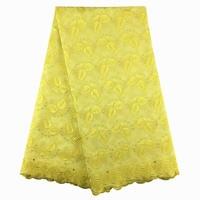 Швейцарская вуаль кружево в Швейцарии желтый 100% хлопок кружево со стразами 886 5 ярдов вышивка для Свадебная вечеринка