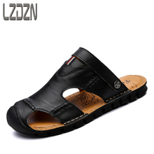 Sandals, mens tide, summer slippers, leisure men, cold drag, Korean Style Mens new personality beach sh