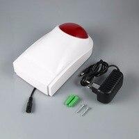 LESHP Fire Sensor Alarm 120dB High Decibel Flashlight Smoke Detector Outdoor Wired Security Sound Light Strobe