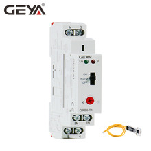 где купить 10pcs Free Shipping GEYA Twilight Switch AC110V-240V Light Control Relay with Sensor Din Rail Relay 16A Automatic Switching дешево