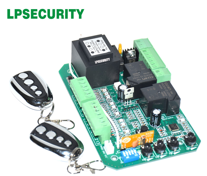 Image 5 - gate motor controller circuit board electronic card for sliding gate opener soft start function pedestrian mode 110V or 220V-in Access Control Kits from Security & Protection