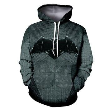 2018 Hot Men's Hoodie Fashion Avengers 3D Print Batman Hoodie Street Casual Cospaly Sweatshirt