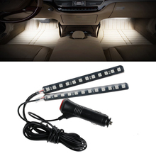 Hot Car styling Light Atmosphere Lamp Dash Floor Foot LED Strip Lights 2x12  Lighter Decoration Car-styling Lamps