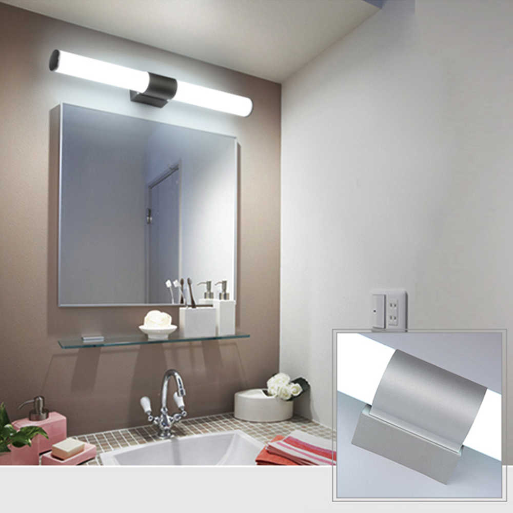 Illuminazione Bagno A Parete da parete lampade da bagno specchio ha condotto la luce impermeabile 12 w  16 w 22 w ac85-265v ha condotto il tubo lampada da parete del bagno