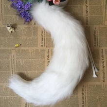 Аниме вечерние Лолиты Косплей Костюм кошка хвост 65 см внутри лисий хвост cos