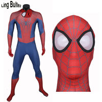 High Quality Custom Made New Amazing Spiderman Costume Adult Spandex Spiderman Suit