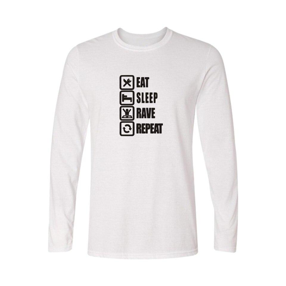 Hot !! EAT SLEEP GAME Mens Long Sleeve tshirts Hip Hop Street Funny T Shirt Men in Classic Design Soft Cotton Tees XXS XXL XXXL