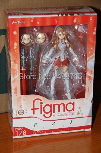Hot Sale Anime Game Figma 178 # Sword Art Online Yuuki Asuna Action Figure Toys New Box