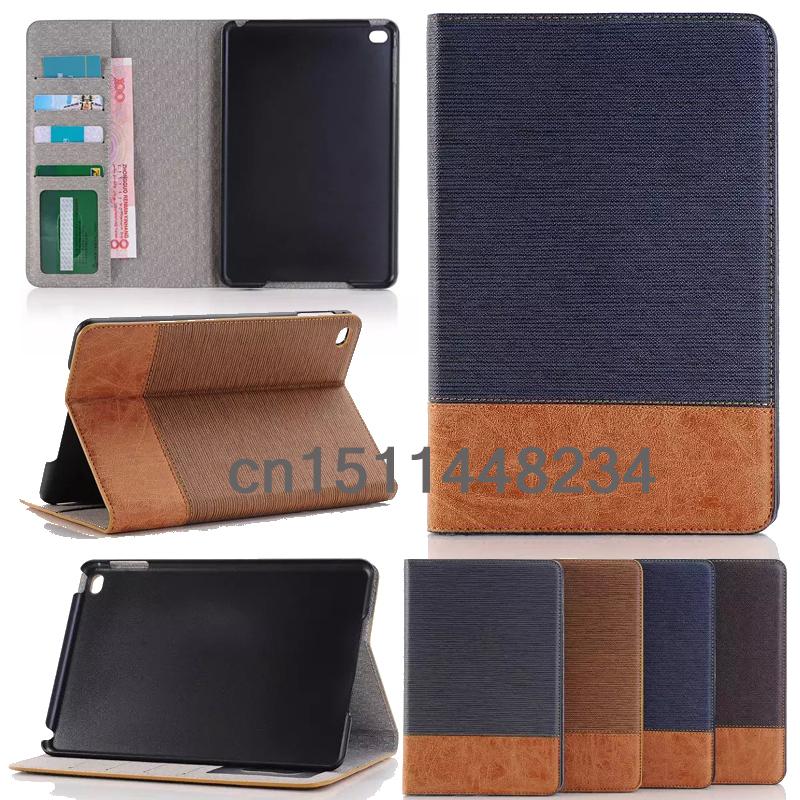 HOT! high quality Luxury case for ipad mini 4 leather Cover for ipad mini4 Smart stand case wakeup/sleep case