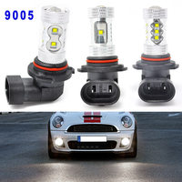 2 unids 30/50/80 W 6000 K Blanco 9005 HB3 9145 100203 LED de la Niebla de Conducción de Luz de Alta poder DRL Bombillas