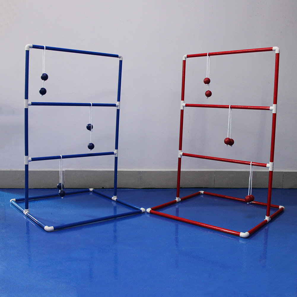 ФОТО CRESTGOLF Ladder Toss Game with 6 Bolos and Durable Nylon Carrying Case