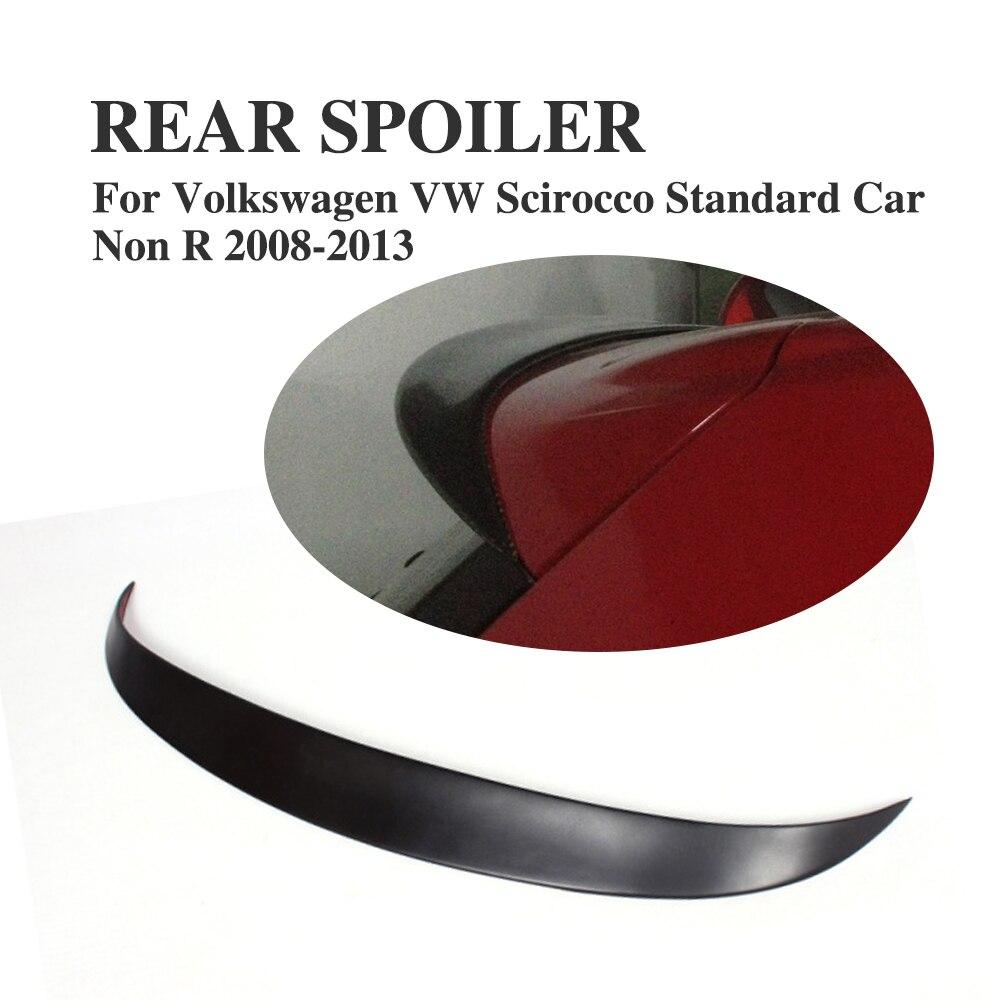 Сзади крыши крыла Спойлер для Volkswagen VW Scirocco Стандартный автомобиль не R 2008 2013 Неокрашенный FRP черный грунт