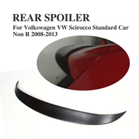 Rear Roof Wing Spoiler Lip for Volkswagen VW Scirocco Standard Car Non R 2008 2013 Unpainted FRP Black Primer