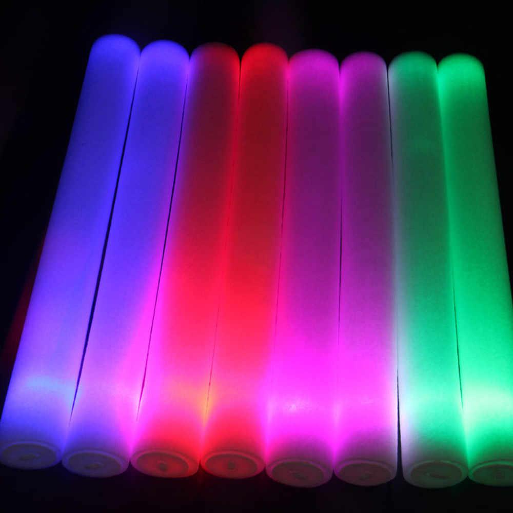 100 pces iluminam acima a festa do fulgor das varas da espuma led flashings concerto vocal reusável quente