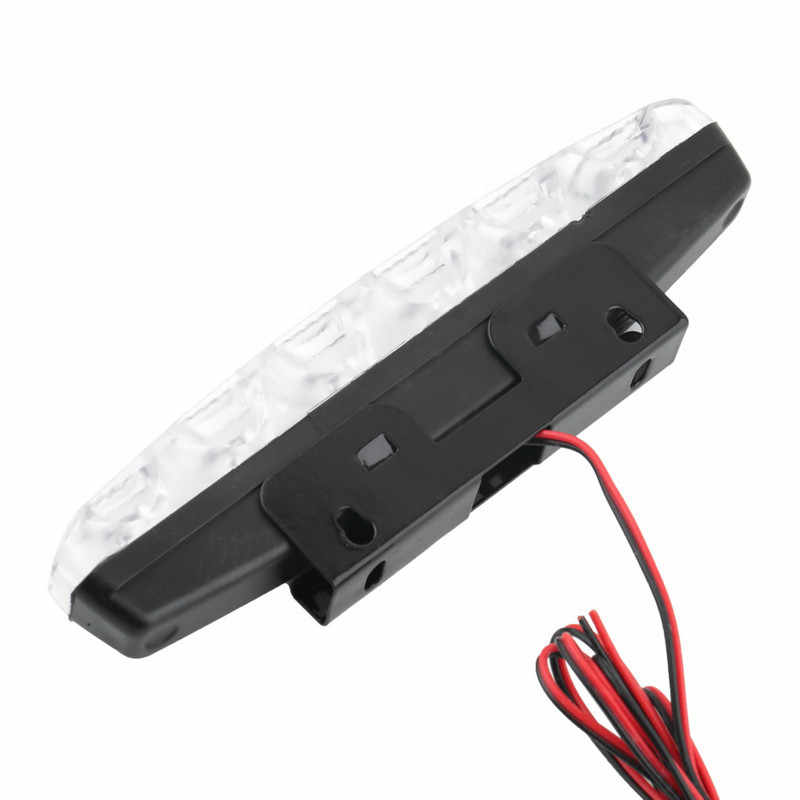 2017 2pcs Brand New High Quality 6 LED Daytime Driving Running Light DRL Car Fog Lamp Waterproof White DC 12V Hot Sale