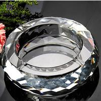 Crystals Glass Transparent Ashtray Hotel KTV Supplies Cigarette Ash Tray Smoking Holder Household Merchandises