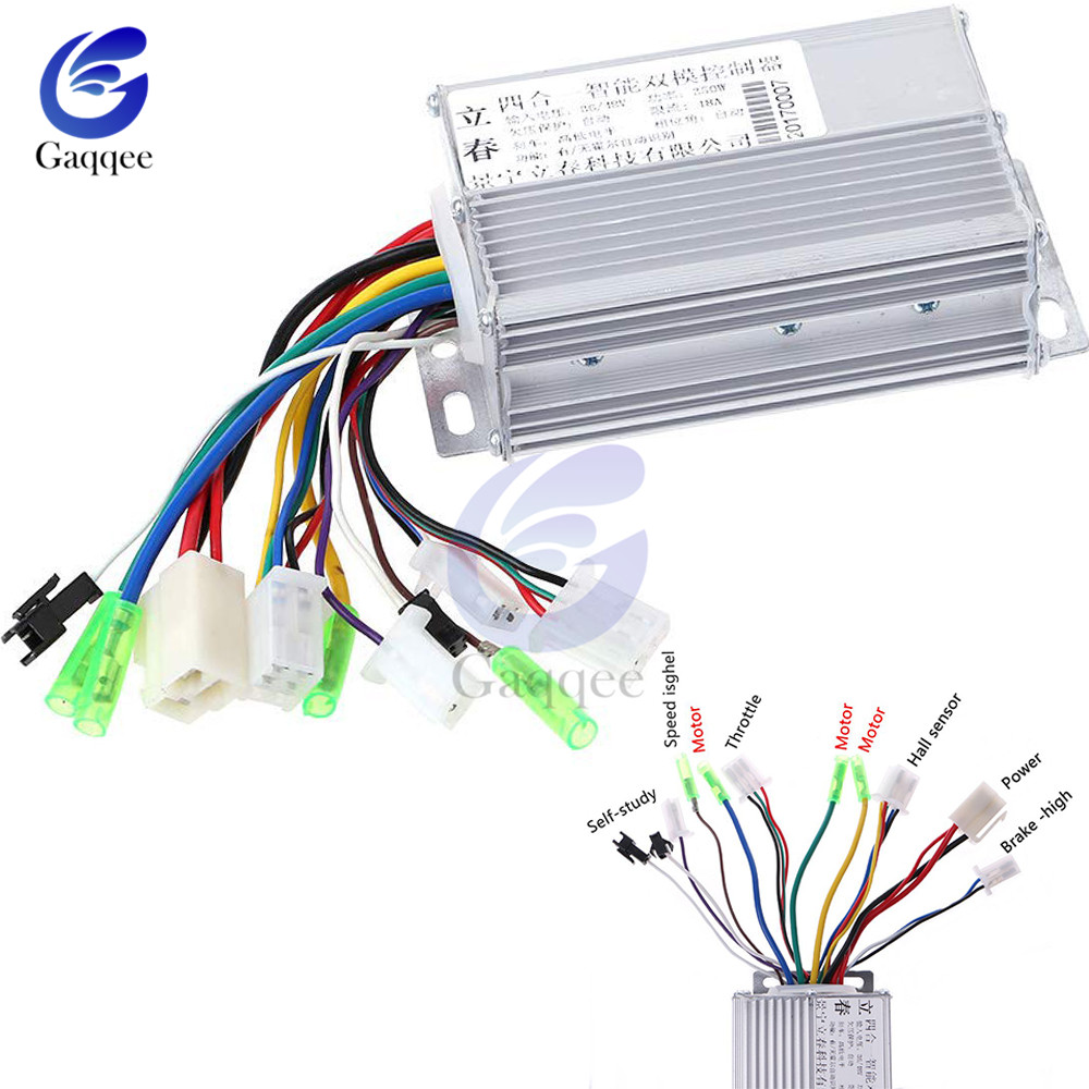 US $7 24 15% OFF|DC 36V/48V 350W Brushless DC Motor Speed Controller  Regulator for Electric Bicycle E bike Scooter 103x70x35mm with Aluminum  Case-in
