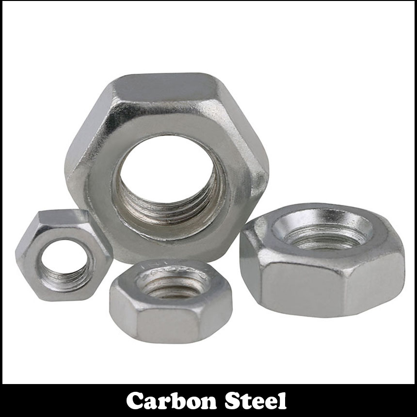 100Pcs 5/32 5/32 Inch 5/32-32 Zinc Plated Carbon Steel UK Standard British Form Coarse Thread BSW Hex Hexagon Nut