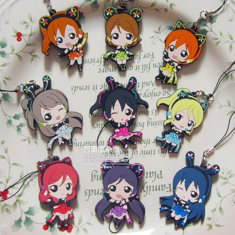 Kotori Nico Eli Rin Umi Maki Anime Love Live! Lovelive! PCGA Version Japanese Rubber Keychain турмалин минерал камень в коробочке real minerals collection
