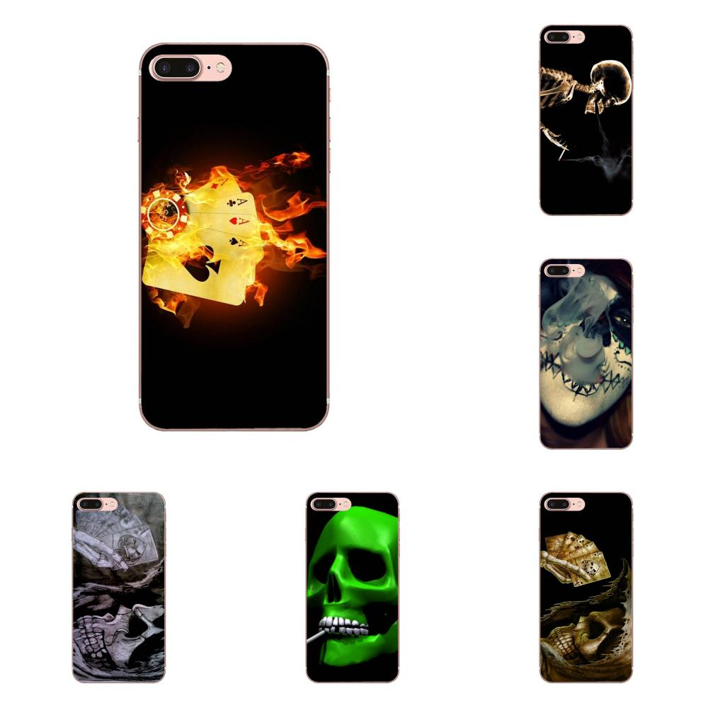 c5c5f39f6d9 Bixedx For LG G2 G3 mini spirit G4 G5 G6 K4 K7 K8 K10 2017 V10 V20 V30 Soft  Mobile Case Poker Skull Smoking