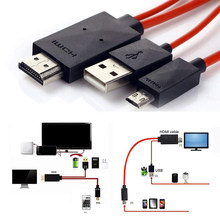 New 1080P TV HDMI AV Adapter Micro Cable Cord for Samsung s4/s3/s5 Android Smart Phones(China)