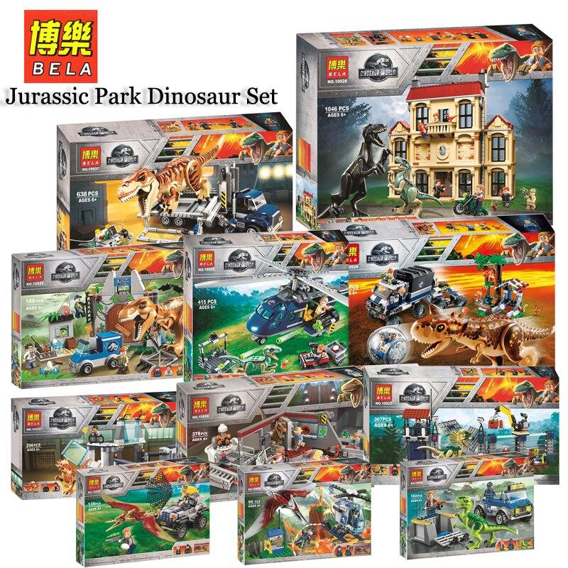 Jurassic World Park Dinosaur figurki Set 10928 10927 10926 Compatible Legoing 75930 75932 Model Building Kits Blocks Bricks Toys
