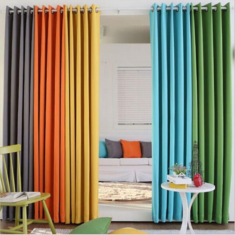 Single Panel Modern Solid Colors Blackout Curtains Blinds