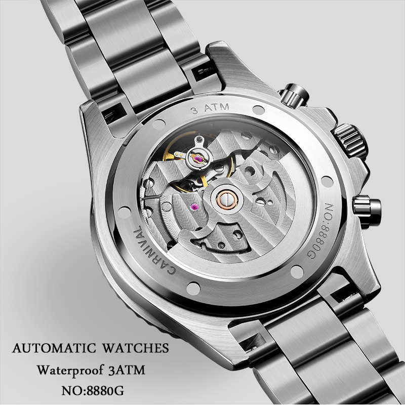 Relógios mecânicos homens topo da marca de
