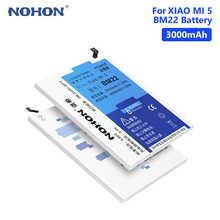 NOHON BM22 Real 3000mAh Rechargeable Phone Battery For Xiaomi Mi 5 Mi5 Bateria Batteries Free Tools Retail Package