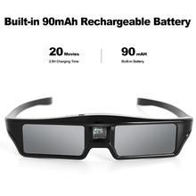 New Active Shutter 3D Glasses Portable Rechargeable Glasses 90mAh Battery Support 96HZ/120HZ/144HZ For DLP-Link Projector