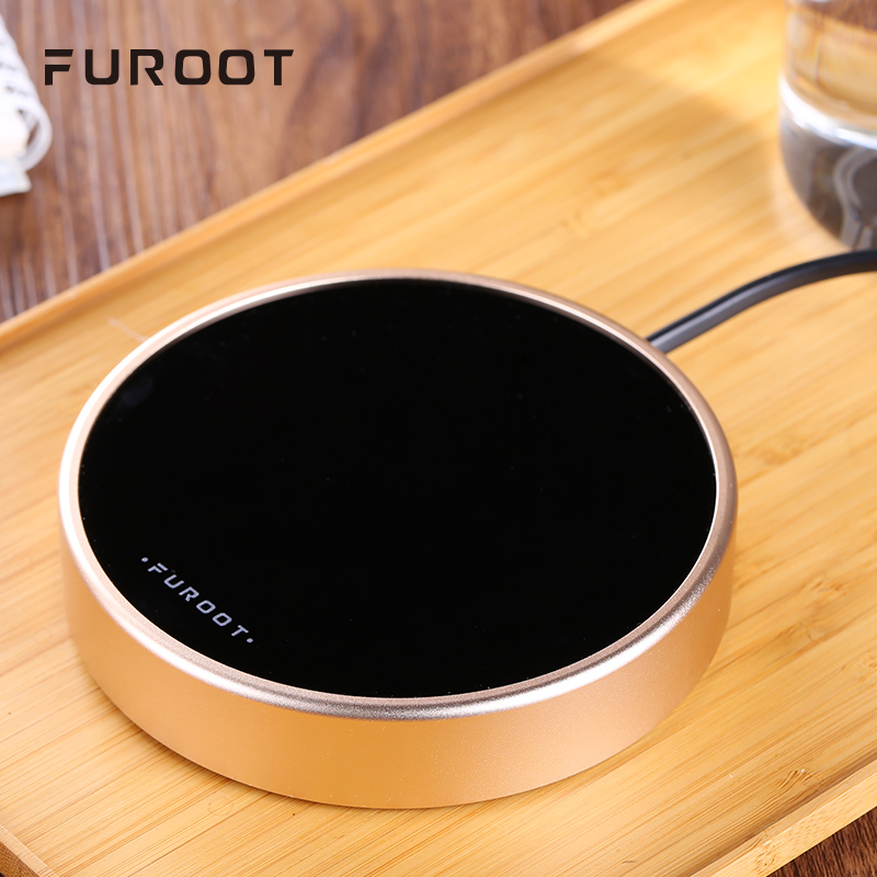 Furoot Smart Touch Thermostat Multifunctional Insulation Base Glass Warmer Cup Portable Milk Coffee Heater Office Use And Cup
