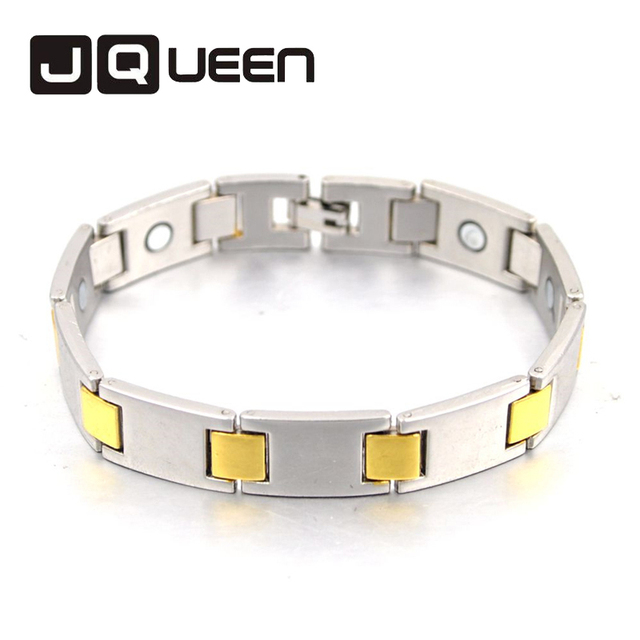Health Bracelet Men Jewelry Healing Magnetic Bangle Balance Copper Bracelets Watch Band Design For Male Silver Gold Color
