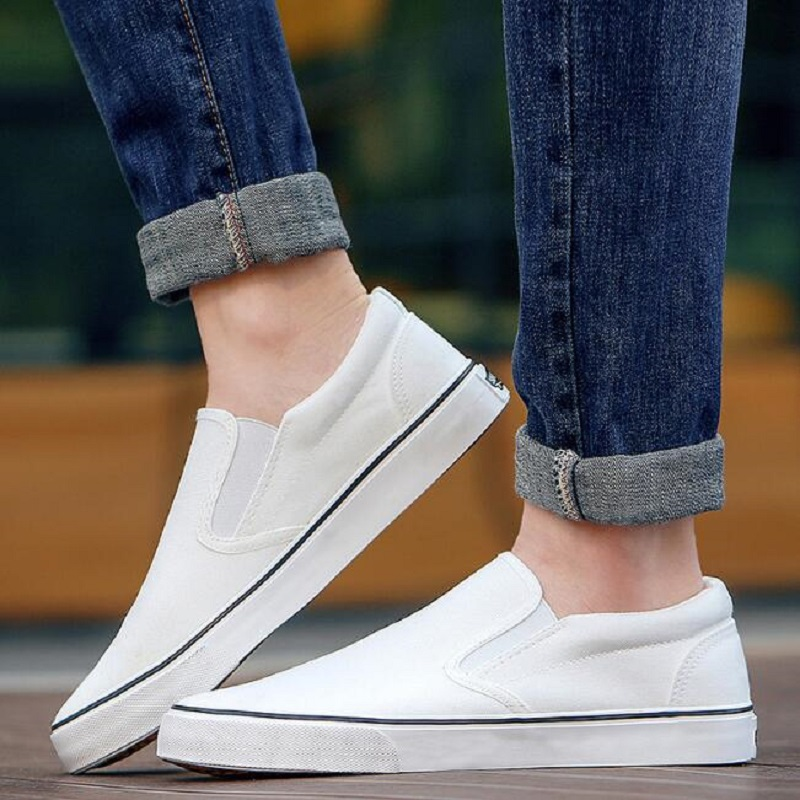Hot 2018 Fashion Mens Shoes Outdoor Men loafers Walking Shoes Espadrilles Slip on Casual Shoes Men canvas Flats shoes 6h85 hot sale 2016 top quality brand shoes for men fashion casual shoes teenagers flat walking shoes high top canvas shoes zatapos