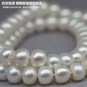 Image 2 - Женское Ожерелье из жемчуга ASHIQI, длинное ожерелье из натурального пресноводного жемчуга 90 см/120 см, 3 ряда цепочек на свитер, подарок на день матери 2019