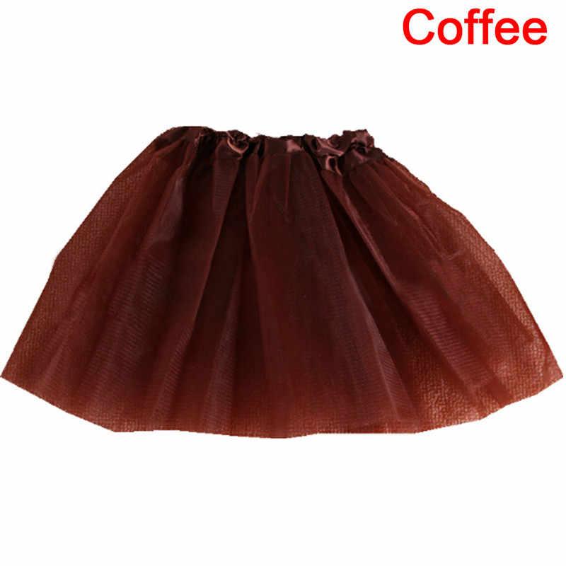 1スカートファッション3層パーティーファンシーかわいい弾性ストレッチチュールティーン大人のチュチュスカート衣装ペチコートダンス