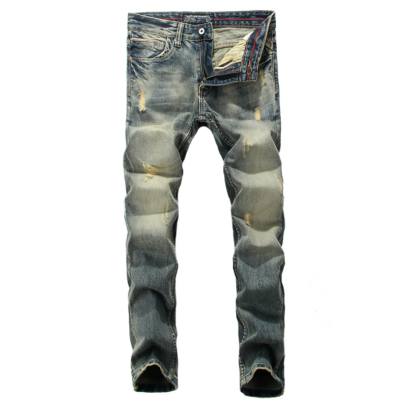 Italian Style Retro Design Men Jeans High Grade Top Quality Denim Stripe Jeans Mens Pants Slim Fit Destroyed Skinny Ripped Jeans retro design men jeans vintage style slim fit destroyed ripped jeans men high quality denim motor biker jeans skinny mens pants