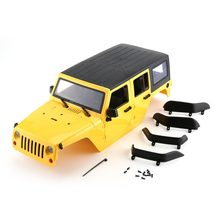 Hard Plastic Car Shell Body DIY Kit for 313mm Wheelbase 1/10 Wrangler Jeep Axial SCX10 RC Car Crawler Vehicle Model(China)