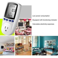 230V Intelligent Billing Socket Power Meter Energy Electricity Monitor Watt Voltage Amps Meter with Digital LCD Display