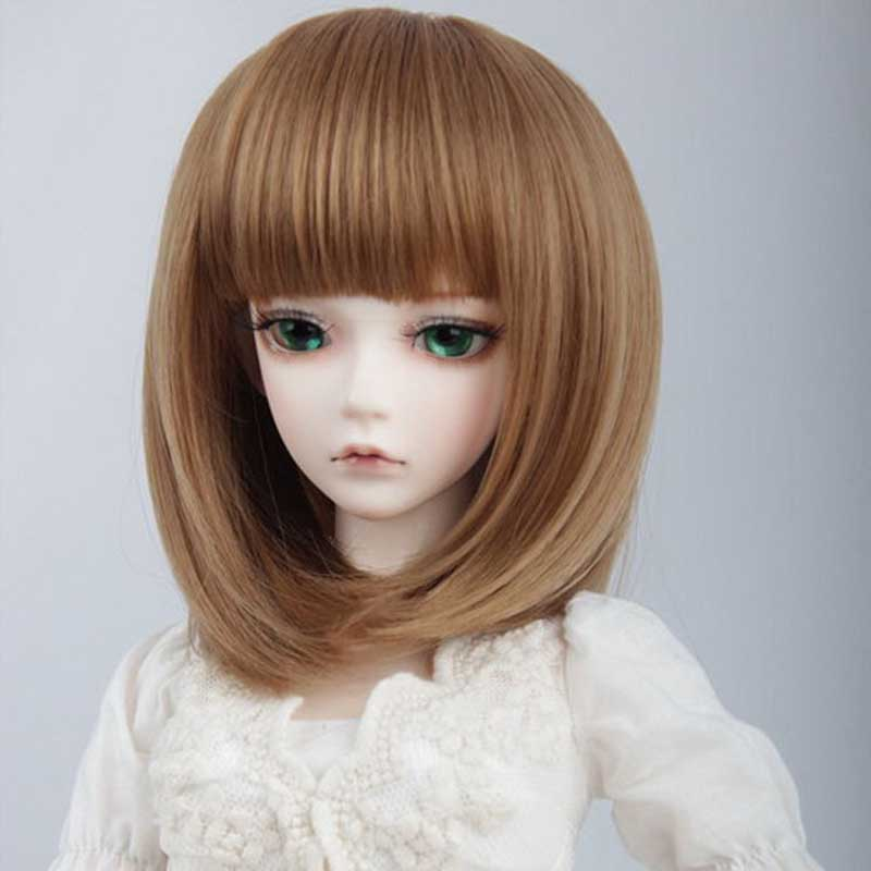 Hot Sale Green BJD SD Wig Hair Brown 1/3 BJD Wig Short