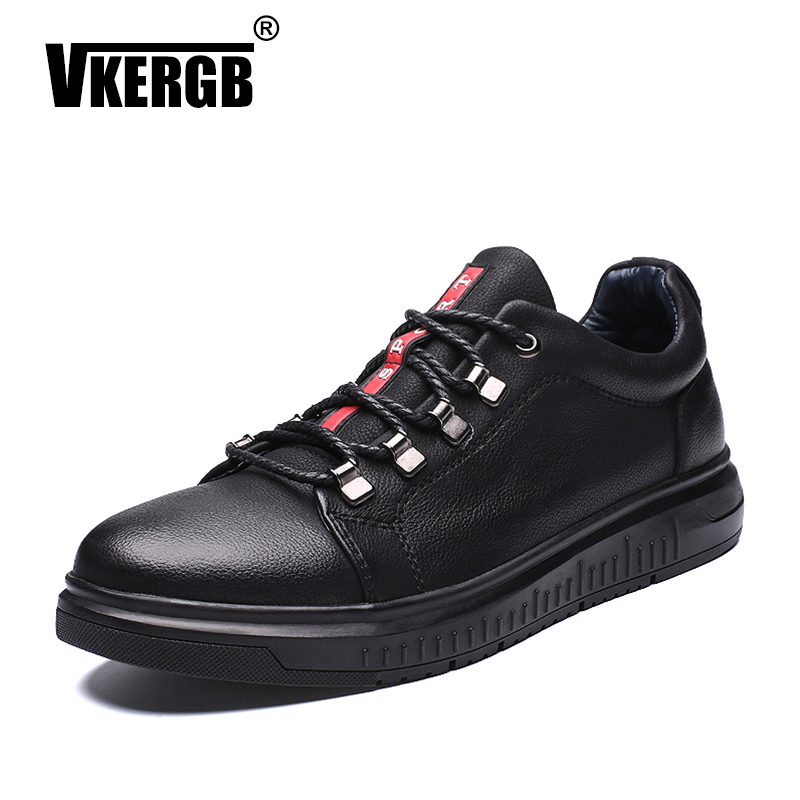 VKERGB Men Shoes England Trend Casual Leisure Shoes Flats Lace Up Shoes Simple Loafers Men s