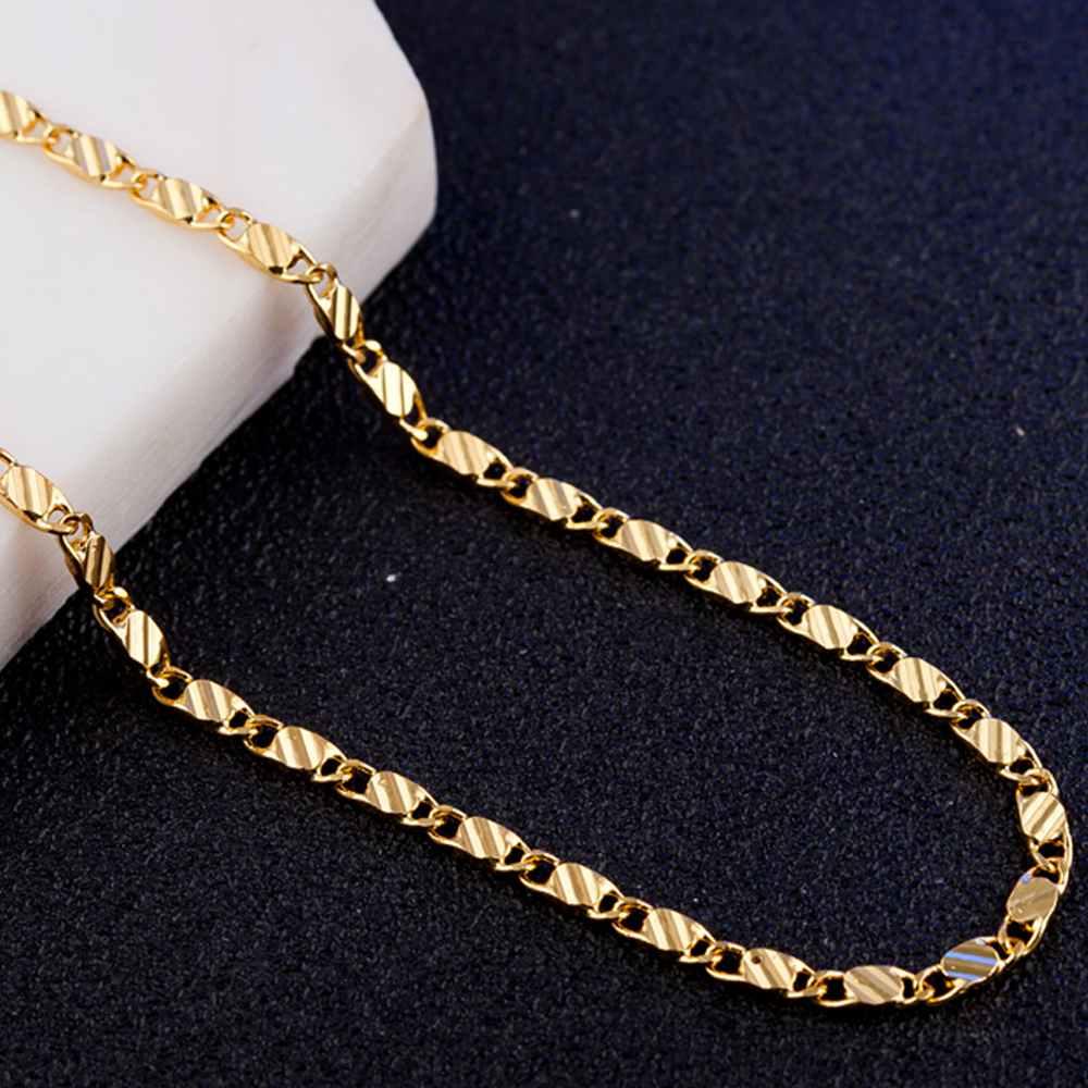 JEXXI New Design Gold Chain Necklace Unisex Jewelry Accessory Hot Neckleces For Women La ...