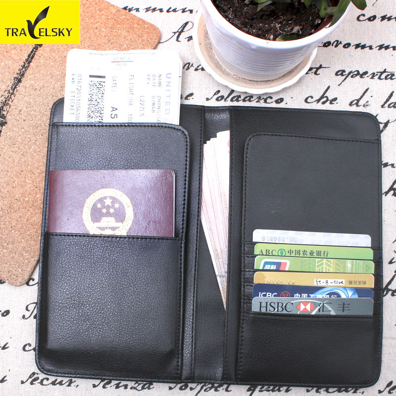 Clearance Women RFID Business Passport Holder Leather Wallet Men Travel Organizer Wallets Functional Card Holder Purse Black велосипед bulls vanida 27 5 2017