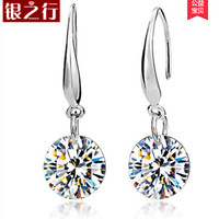 925 silver earrings female long design elegant fashion drop earring sparkling silver jewelry accessories