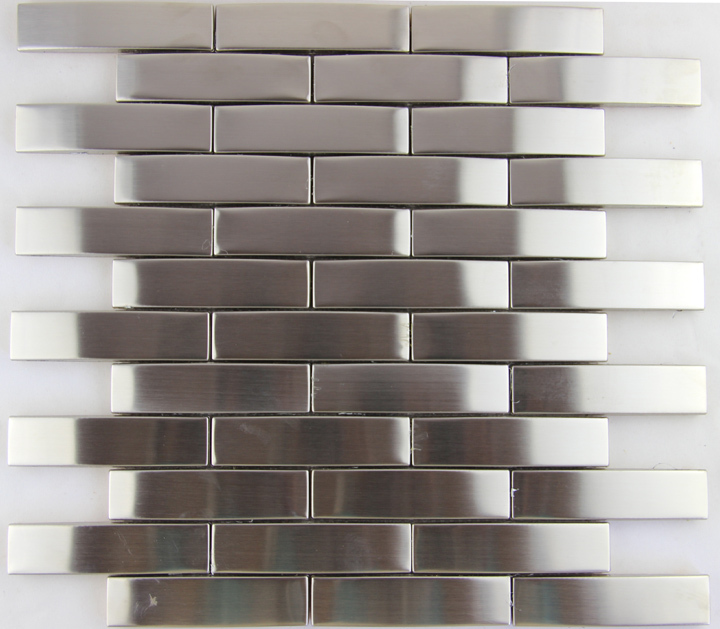 Metallic Wall Paneling : Arcuation metallic mosaic stainless steel decoration d