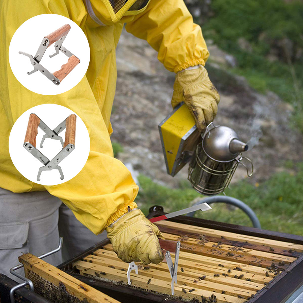Stainless Steel Bee Tool Nest Box Jig Beehive Equipment Beekeeping Nest Box Clip