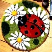 DIY рукоделие незавершенной крючком пряжа подушки Коврики Божья коровка пижамы с вышивкой и цветочным принтом, ковер