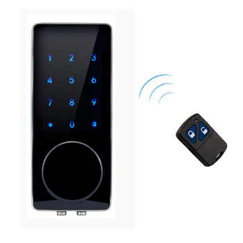 Electronic Door Lock Remote Control, Password, Mechanical Key Touch Screen Keypad Digital Code Lock lk110BSRM - DISCOUNT ITEM  10% OFF All Category