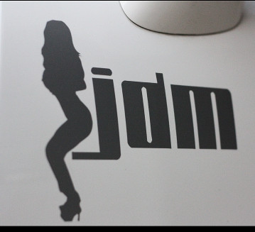 High quality For <font><b>sexy</b></font> <font><b>girl</b></font> JDM car sticker and decals cool modified accessories image