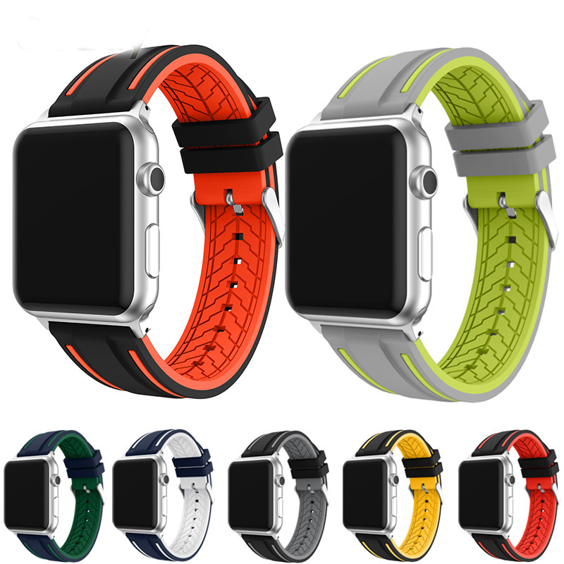 For, Sport, Watch, Silicone, Apple, Pulseira